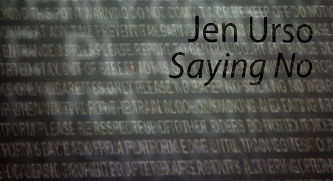 Saying No by Jen Urso, an installation questioning boundaries #installation #boundaries