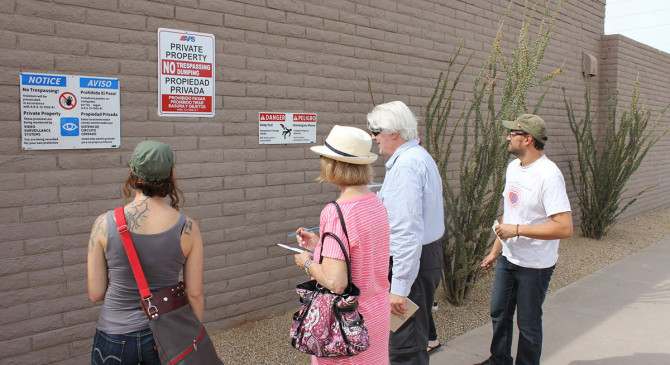 Warning Walk in Phoenix, AZ #performance #walking #walk