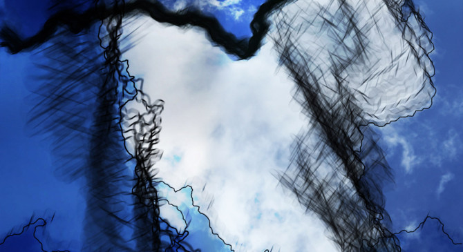 Cloud Lines by Jen Urso is a projected video of boundaries #clouds #boundaries