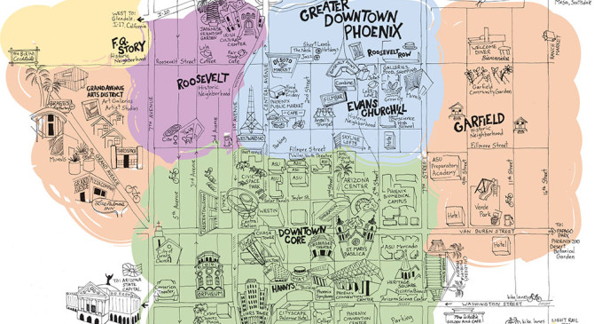 A few maps of downtown Phoenix, made with love #maps #phoenix