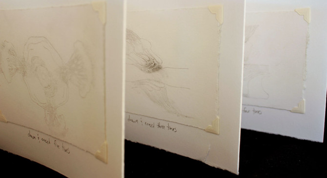 Without Traces by Jen Urso erased drawing book #artbook #drawing #pencil #erased