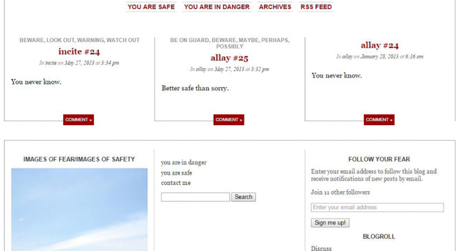 Allay/Incite blog by Jen Urso statements to allay or incite fear