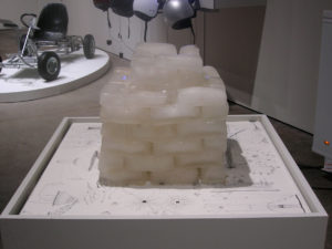 Iceflow installation with ice tower, by Jen Urso